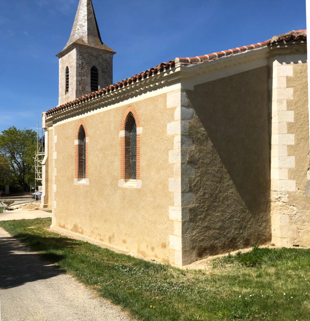 rénovation façades gers - enduit brossé - Histoire de Pierres